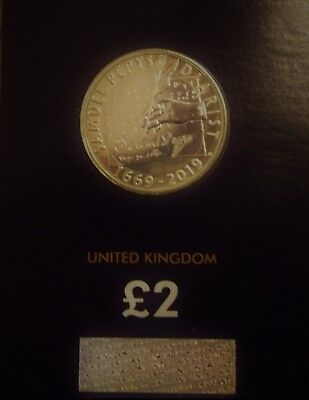 Uk Royal Mint 2019  Samuel Pepys Diary £2 Two Pound Coin Bunc Bu