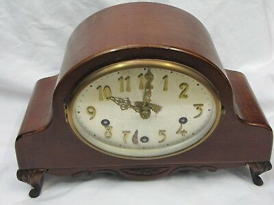 A 1930's Westminster Chiming Mantel Clock with Platform Escapement