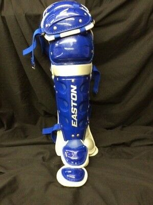 "Easton Rival Youth Leg Guards 14"" Royal and Gray"