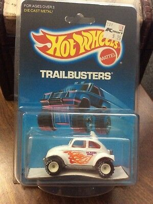Hot Wheels - White VW Baja Bug / Beetle - Real Riders GYW - RARE Blue Card #2542