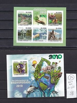 Sao Tome & Principe 2010  MNH  two  s/sh  Imperf Animals Save Earth.See scan.