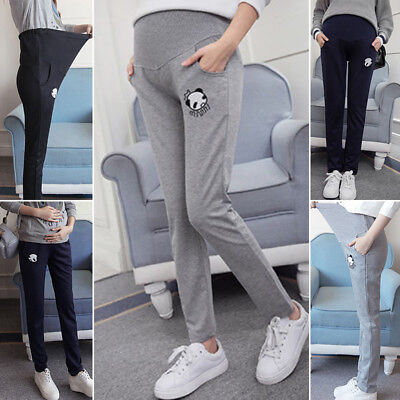 Maternity Women Pants Pregnant Ladies Casual Stretchy Autumn High waist 2018