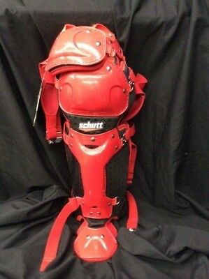 "Schutt S3 Multi Flex Leg Guards 13"" Red"