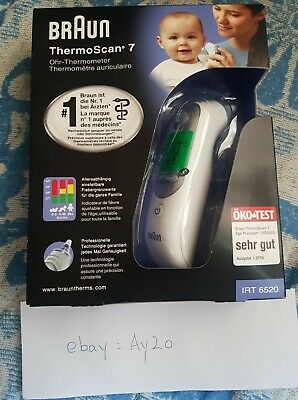 Brand New Braun IRT 6520 ThermoScan 7 Digital Ear Thermometer new age Precision