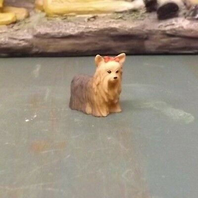 New Miniature Resin Yorkshire Terrier Dogs FREE SHIPPING!!!!