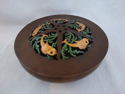 Boston Society of Arts & Crafts Enamelled Copper FISH Bowl C 1910