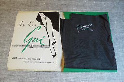 GUI Bas collant vintage neuf 1960 Nylon 45 deniers Made in France.