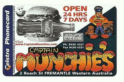 Pristine Mint $2 Captain Munchies Coca Cola Phonecard 97002003 A Issued 123 1/5