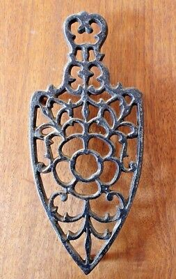 Vintage Cast Iron Footed Trivet Antique Collectible