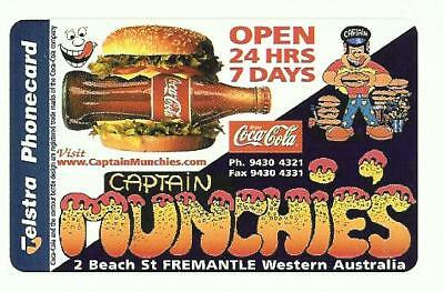 Pristine Mint $2 Captain Munchies Coca Cola Phonecard 97002003 A Issued 100 2/5