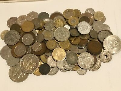 Mixed lot of GB and World coins 1.1 kg including silver coins