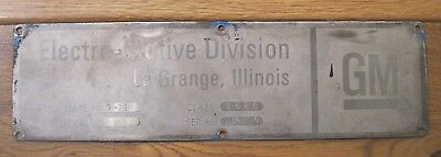 MILW SD40-2 builders plate, used, excellent condition 50