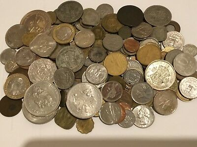 Mixed lot of GB and World coins 1.2  kg including silver coins