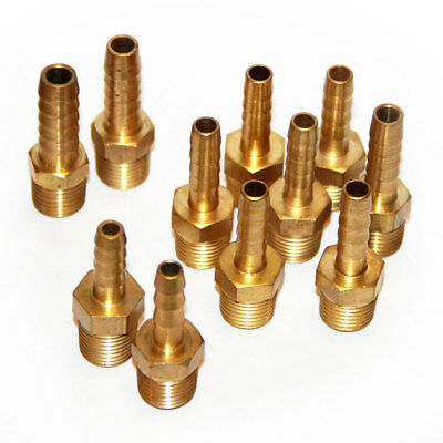 Pack of 11 Facet Assorted Straight Brass Fuel Pump Fittings 6, 8 & 10mm Push on