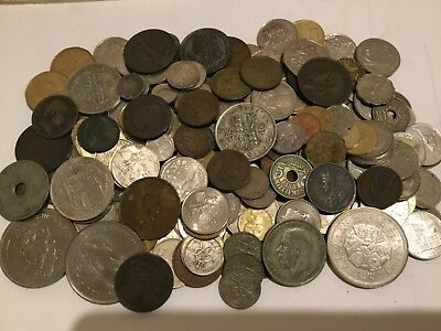 Mixed lot of GB and World coins 1.3  kg including silver coins