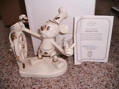 Lenox Walt Disney Steamboat Willie With Box And Coa
