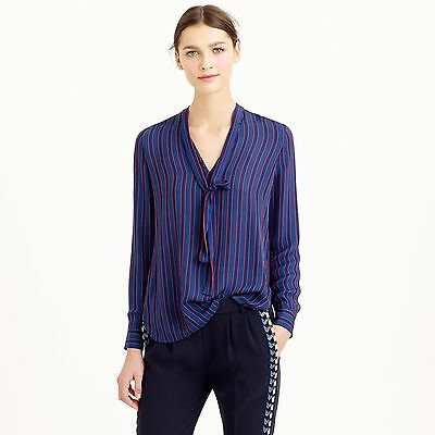 1c02254558aa7 NEW J CREW Collection Silk Secretary Blouse Navy Blue SOLD OUT NWT ...