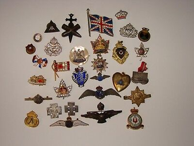 Canadian / British Military Sweetheart badges and Jewelry Lot (JS1)