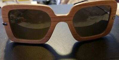 Vintage WOOD Italy Sunglasses Rare Estate Find No scratches