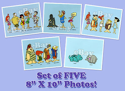 Rare! Set of 5 PEBBLES & BAMM BAMM SHOW Cartoon TV Photos HANNA BARBERA Studios