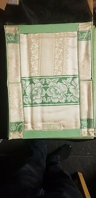 Vintage Table Cloth And 4 Napkins Irish Made Still Sealed