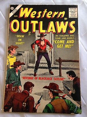Western Outlaws 21 Atlas Comic Book 1957