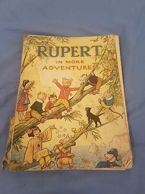 Rupert In More Adventures 1944 Annual 1st edition