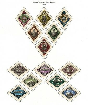 Lithuania #176-188 Complete Set 1923 MNH