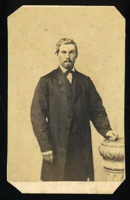 Civil War Era CDV Photo of Man by Israel & Co Baltimore MD ID'd on Back