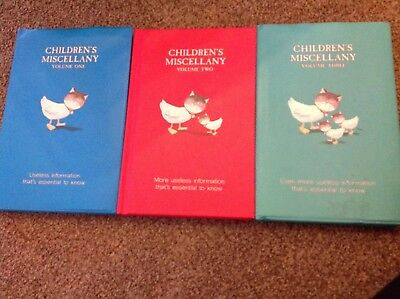 Childrens Miscellany Books Set Of 3 Useless Information - Childrens Books