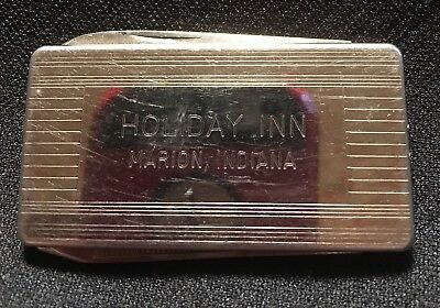 Vintage Holiday Inn Marion, Indiana Chrome Money Clip/Pocket Knife 1960s
