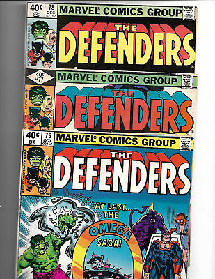 From Marvel Comics Short Run Of The Defenders ** Wow!** (Lot Of Great Action)