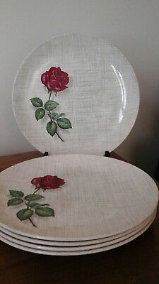 J & G Meakin Sol 391413 Side/tea Plate SERENADE Single Rose X 5