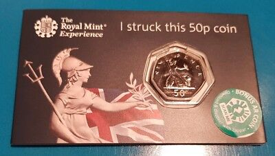 2019 Royal Mint Strike Your Own britannia 50p Coin. Early strike 01/01/2019