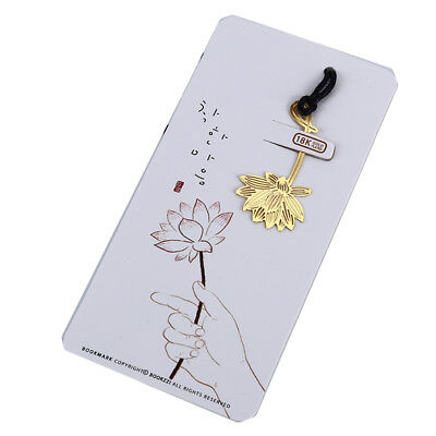 Exquisite Lotus Bookmarks for Book Holder Library School Stationery Supplies L