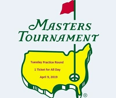 (1) 2019 Augusta Masters Tournament Ground Ticket Badge Tuesday April 9 4/9 ANGC