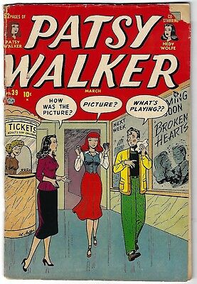 Patsy Walker #39 - Al Jaffee cover and art - Movie Theater cover - Hellcat
