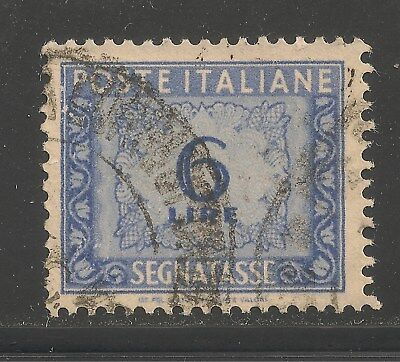 Italy #J70 (D10) VF USED - 1947 6 l Numerial Postage Due