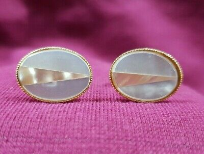 Mother Of Pearl Or Shell Cufflinks Cuff Links