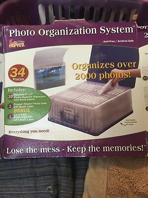 Cropper Hopper photo Organization System 34 Piece NEW
