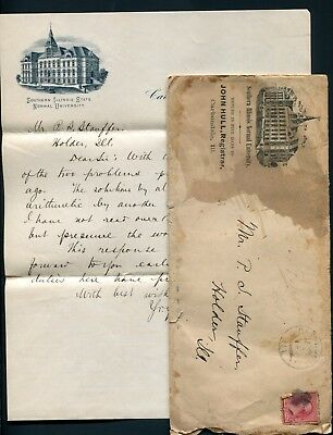 1892 Southern Illinois Normal University - Carbondale, IL to Holder, IL - Letter