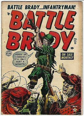 Battle Brady #11 -  Syd Shores cover and art -  cover used in POP  - TGL