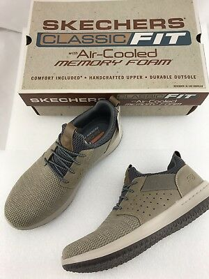 MEN'S SNEAKER TAUPE Skechers Delson Camben Classic Fit size
