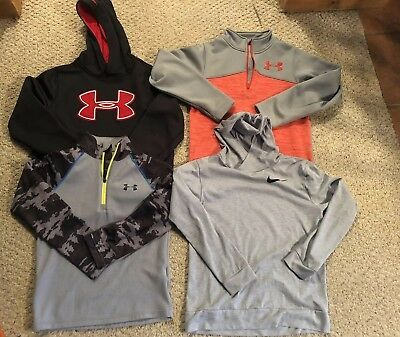 Nike Under Armour Boys Medium Lot Of 5 Shirts pullover