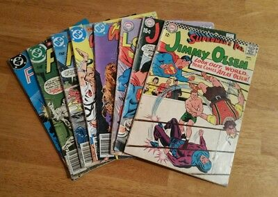 Lot of 8 Silver and Bronze age DC COMICS !