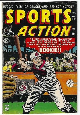 Sports Action #14- Sol Brodsky cover -  Myron Fass, Tom Gill art - TGL