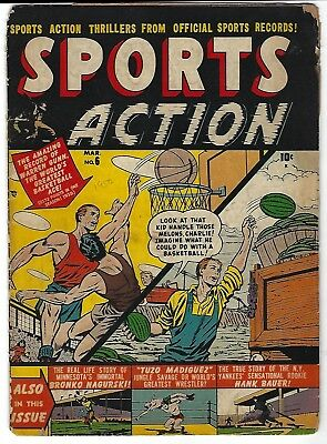 Sports Action #6 - Sol Brodskyl cover - Myron Fass, Marion Sitton art  - TGL