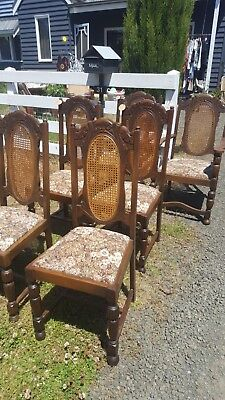 4 x ANTIQUE JACOBEAN Dining Chairs