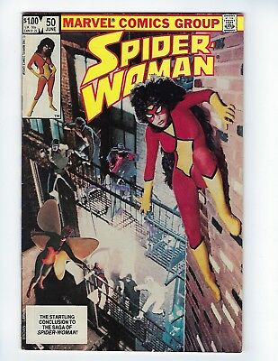 SPIDER-WOMAN # 50 (LAST ISSUE IN SERIES, Cents, JUNE 1983), VF+