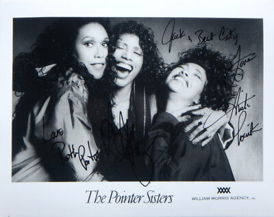 """THE POINTER SISTERS Signed Autographed Promo 8"""" X 10"""" R&B Soul Publicity Photo"""